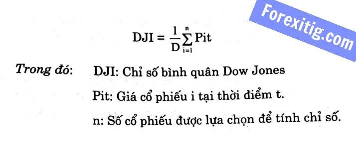 Công thức tính DJIA (Dow Jones)