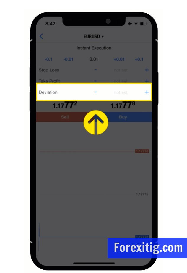 Cách thiết lập độ lệch cho MT4 hay MT5 trên điện thoại